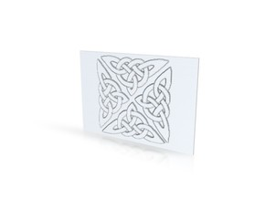 Celtic knot 1 in Polished Gold Steel