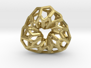 D-STRUCTURA 3T Pendant. in Natural Brass