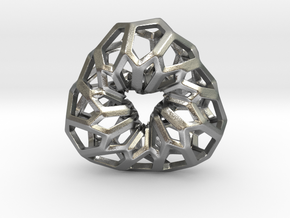 D-STRUCTURA 3T Pendant. in Natural Silver
