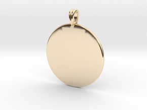 Initial charm jewelry pendant in 14K Yellow Gold
