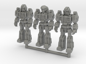 Diaclone Squad, at attention 35mm Minis in Gray Professional Plastic