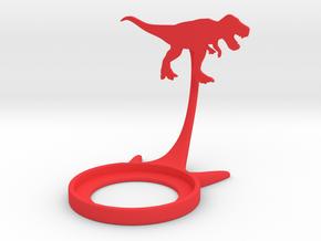 Dinosaur Tyrannosaurus in Red Processed Versatile Plastic