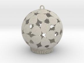 Stars and Hearts Inscense holder in Natural Sandstone: Medium