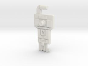 Cyber Key to Vector Sigma in White Natural Versatile Plastic: Medium