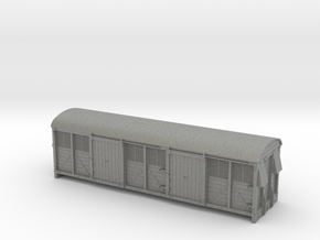 LMS 6wheel Milk Van body solid sides - 4mm scale in Gray PA12