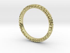 Wedding Ring Street 3 mm in 18k Gold Plated Brass: 6.25 / 52.125