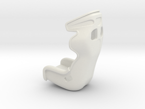 1:24 scale  Sports Seat in White Natural Versatile Plastic