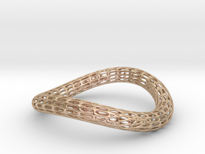TORUS NEW Silver 1-3.-smooth in 14k Rose Gold Plated Brass