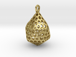 STRUCTURA Stylized, Pendant. in Natural Brass