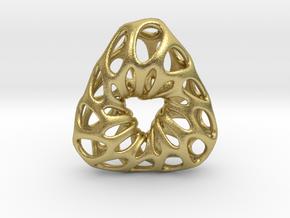Prescious Structure Soft, Pendant. in Natural Brass