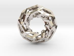 STRUCTURA 360 Sharp Edge, Pendant. Sharp Chic in Rhodium Plated Brass