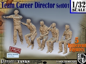 1/32 team career director Set001 in Smooth Fine Detail Plastic