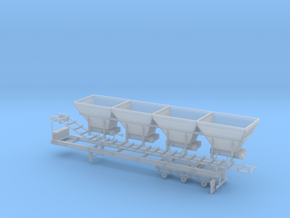 1/87th Cold Mix Aggregate Hopper Trailer  in Smooth Fine Detail Plastic