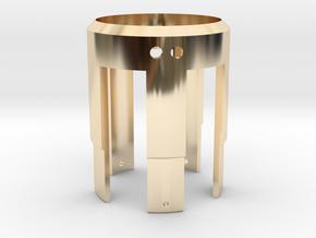 Rudy's HERO V3 LED Holder in 14K Yellow Gold