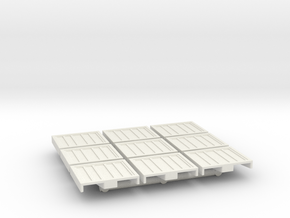 1-87 Scale Spill Containment Pallets x9 in White Natural Versatile Plastic