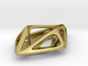 STRUCTURA Smooth, Pendant. in Natural Brass