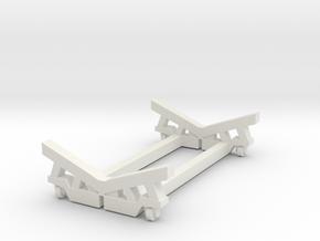 1/72 Cradle for USN Catapult P-6 in White Natural Versatile Plastic