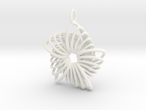 5 Point Nautilus Rings - 4cm in White Processed Versatile Plastic