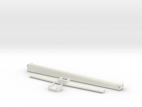 Radarmast/ Mast voor Binnenvaartschepen in White Natural Versatile Plastic: 1:50