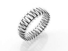 Small Structure Ring  in Polished Silver: 6.5 / 52.75