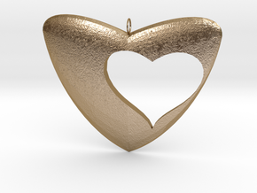 Cuore in Polished Gold Steel