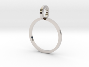 Charm Ring 12.37mm in Rhodium Plated Brass
