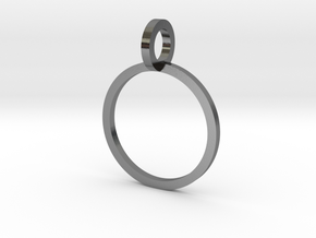 Charm Ring 12.37mm in Polished Silver