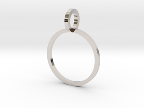 Charm Ring 13.21mm in Rhodium Plated Brass
