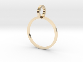 Charm Ring 13.61mm in 14k Gold Plated Brass