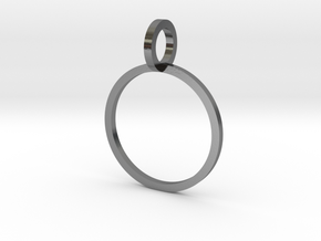 Charm Ring 14.05mm in Polished Silver