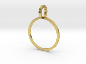 Charm Ring 14.36mm in Polished Brass