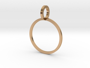 Charm Ring 14.86mm in Polished Bronze
