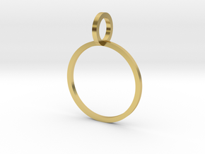Charm Ring 15.27mm in Polished Brass