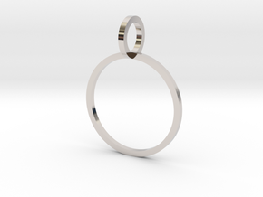 Charm Ring 15.70mm in Platinum