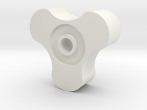 3lob cycloidal gear in White Natural Versatile Plastic