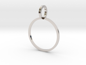 Charm Ring 16.00mm in Platinum