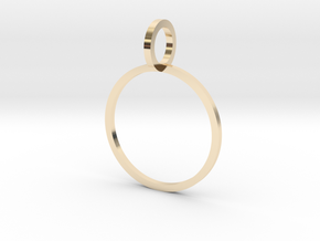 Charm Ring 16.00mm in 14k Gold Plated Brass