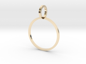 Charm Ring 16.51mm in 14k Gold Plated Brass