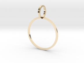 Charm Ring 18.19mm in 14k Gold Plated Brass