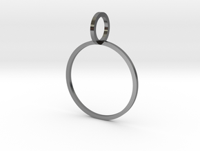 Charm Ring 18.53mm in Polished Silver