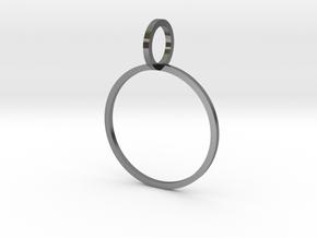 Charm Ring 18.89mm in Polished Silver