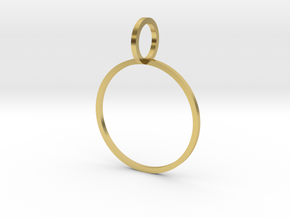 Charm Ring 19.84mm in Polished Brass