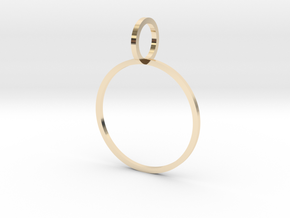 Charm Ring 19.84mm in 14K Yellow Gold