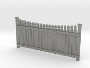 Dollhouse Plain Picket Fence in Gray PA12: 1:12