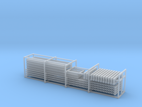 HO Scale Fence + Gates in Smooth Fine Detail Plastic