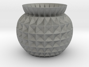 Vase GRFT in Gray PA12
