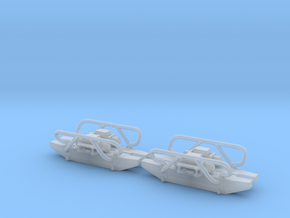 Set of 4 - Offroad Bumper with Winch in 1/64 scale in Smooth Fine Detail Plastic