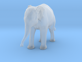 Indian Elephant 1:35 Standing Female Calf in Smooth Fine Detail Plastic