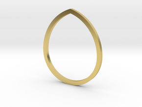 Drop 14.36mm in Polished Brass