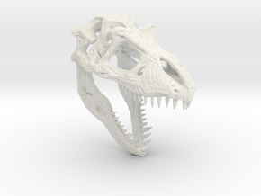 TRexSkull in White Natural Versatile Plastic